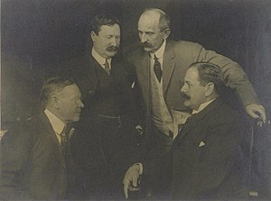 "San Francisco graft trials - The ""Big Four"" graft prosecutors (left to right) Francis J. Heney, William J. Burns, Fremont Older and Rudolph Spreckels."