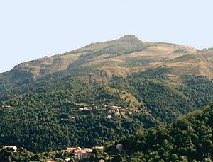 Cambia, Haute-Corse - Mount San Petrone and the villages of Cambia and Loriani, in Cambia