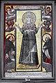 San marco, fi, mosaico di maria da antica s.pietro in vaticano, con angeli e santi Domenico e Raimondo in adorazione nello stile di fabrizio boschi (pa).JPG