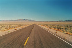La carretera 375, que discurre por el sur de Nevada.
