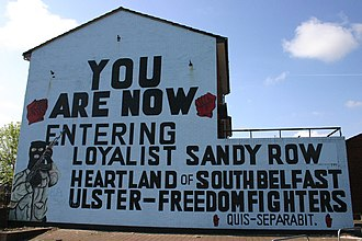 Ghetto - Mural at the edge of a loyalist ghetto in Belfast