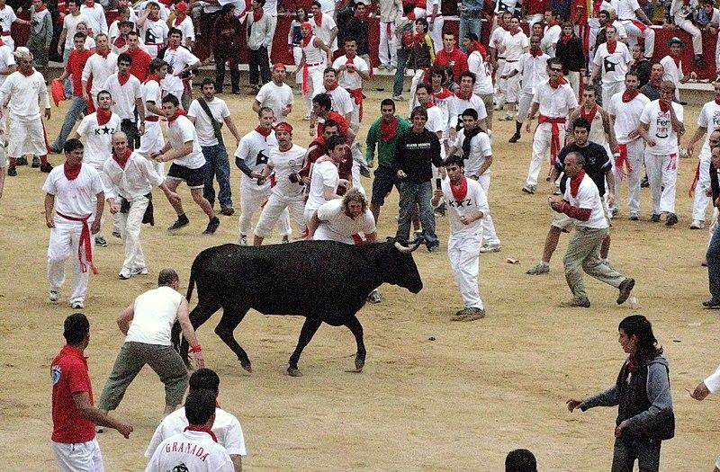 Afbeeldingsresultaat voor stierengevechte Pamplona