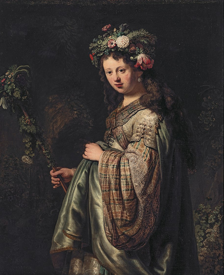 Saskia van Uylenburgh (1612-1642) as Flora, by Rembrandt.jpg