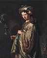 Saskia van Uylenburgh (1612-1642) as Flora, by Rembrandt.jpg