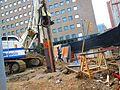Scanning the excavation of a TTC elevator, median of University at Dundas, 2017 06 06 -d (34332534404).jpg