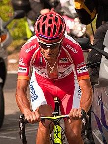 Scarponi in maglia rossa al Giro d'Italia 2011