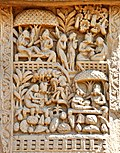 Scenes of Enjoyments - West Face - North Pillar - West Gateway - Stupa 1 - Sanchi.jpg