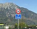 Schaan Liechtenstein Ortsbeginn auf Hauptstrasse (West).jpg