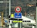 Schaan Liechtenstein Ortsbeginn auf Hauptstrasse West.jpg