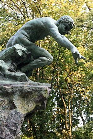 Josaphat Park - Statue of Boreas by sculptor Joseph Van Hamme, Josaphat Park