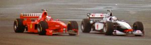 Schumacher and Coulthard in the 1998 British Grand Prix.jpg