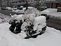 Scooter and motorbike under the snow in Lancy.JPG