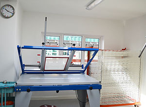 Screen printing - Used to hold screens in place on this screen print hand bench