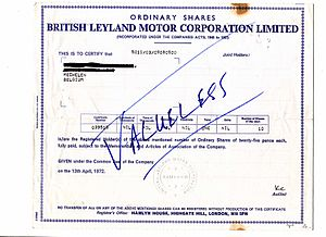 British Leyland - BLMC share