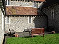 Seats by the south wall at Thomas a'Becket Church, Pagham - geograph.org.uk - 1726855.jpg