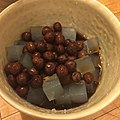 Seaweed jelly with red beans in syrup 豆かん.jpg
