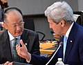 Secretary Kerry Chats With World Bank President Kim cropped.jpg