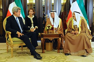 Kuwait - Emir of Kuwait with U.S. Secretary of State John Kerry, 15 January 2014
