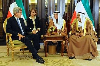 Kuwait - Emir of Kuwait with U.S. Secretary of State John Kerry, 15 January 2014