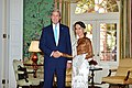 Secretary Kerry Shakes Hands With Burmese State Counselor Aung San Suu Kyi in Washington (29055073564).jpg
