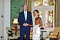 Secretary Kerry Shakes Hands With Burmese State Counselor Aung San Suu Kyi in Washington (29055073564).jpg