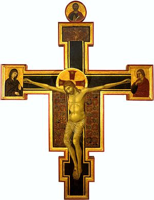 Segna di Bonaventura - Image: Segna di Bonaventura.Crucifix . Siena, Pinacoteca Nazionale. 1310 1315