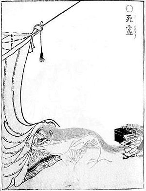"Shiryō - ""Shiryō"" from the Gazu Hyakki Yagyō by Sekien Toriyama"