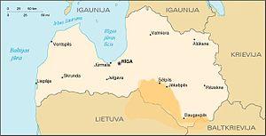 Selonia - Ancient Selonian borders.