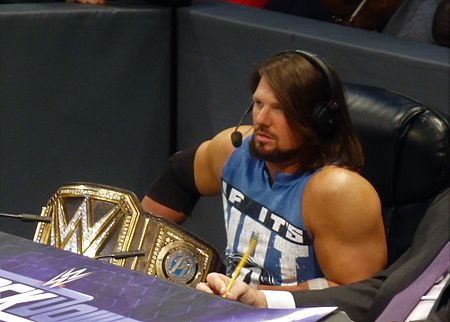 Styles is a two-time WWE Champion Shakedown 44 (31797670645).jpg