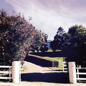 Robbie Robertson - The entrance to Shangri-La Studios in 2016. The Band had the ranch house on the Shangri-La property converted into a recording studio in 1974.