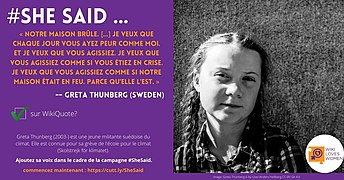 SheSaid campaign postcards featuring Greta Thunberg in French.jpg
