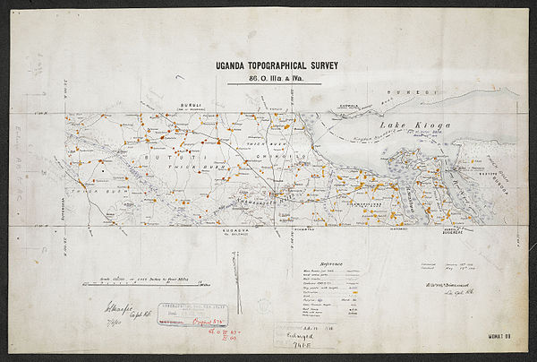 600px sheet north a 36 o   war office ledger.uganda topographical survey   sheets 3%2c4 and 5. %28woos 13 3 3%29