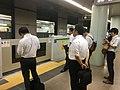 Shinjuku Line Ichigaya station platforms with platform doors july 29 2019 620pm various.jpeg