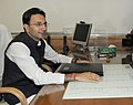 Shri Jitin Prasada taking charge as the Minister of State for Human Resource Development, in New Delhi on October 29, 2012.jpg