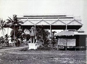 Shwethalyaung Buddha - Image: Shwethalyaung Buddha, Bago (1907 13)