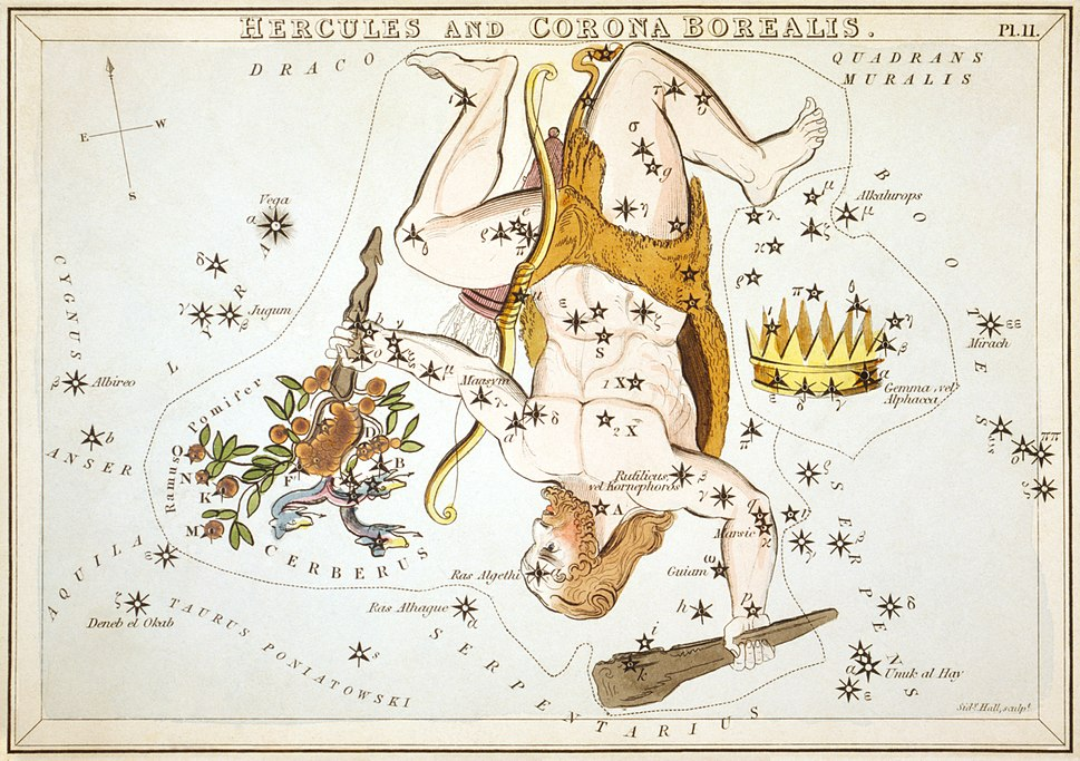 Sidney Hall - Urania's Mirror - Hercules and Corona Borealis