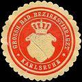 Siegelmarke Grossherzoglich Badischer Bezirkstierarzt - Karlsruhe W0226607.jpg