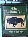 Sign for the Buffalo Inn, Clun - geograph.org.uk - 565787.jpg