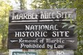 Sign for the Marble National Historic Site in Marble, Colorado Nearby, columns of marble that were once part of the Colorado-Yule Mining Company's thriving processing mill's foundation in the tiny LCCN2015633768.tif