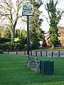 Sign on the village green - geograph.org.uk - 634011.jpg