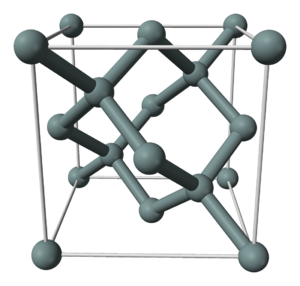 Carbon chauvinism - Silicon in a diamond cubic crystal structure
