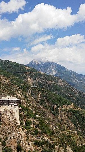 Simonopetra - Image: Simonpetra monastery and Holy Montain Athos