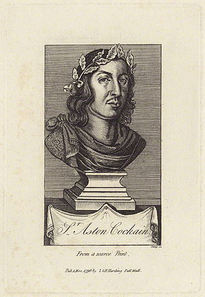 Aston Cockayne - Engraving of Sir Aston Cockayne, 1st Baronet. (1608–1684)
