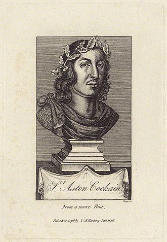 Aston Cockayne - Engraving of Sir Aston Cockayne, 1st Baronet. (1608–1684)
