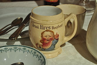 Hires Root Beer - Hires Root Beer mug, 1930s or earlier