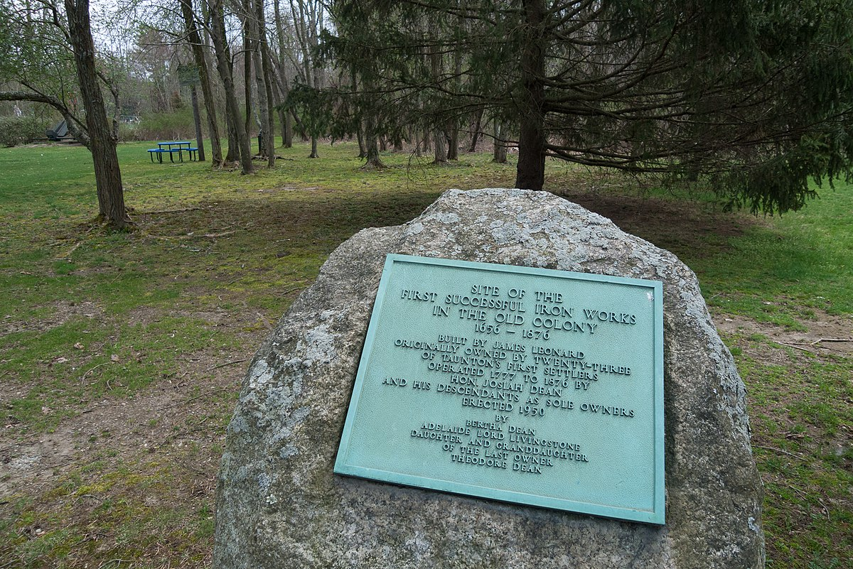 Site of Taunton Iron Works, Raynham Massachusetts-plaque.jpg