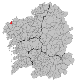 Location of Laxe within Galicia