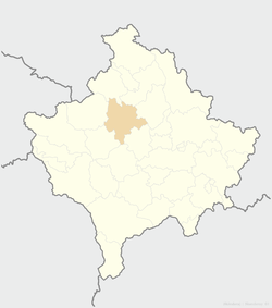 Location of the municipality of Skenderaj within Kosovo