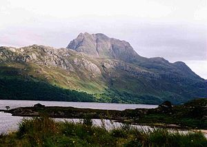 Slioch - Slioch seen from the shores of Loch Maree.