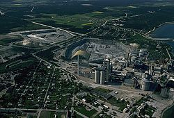 Aerial view of Slite